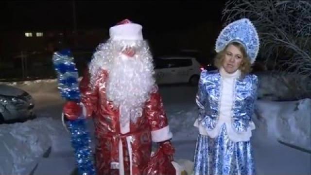 Дед Мороз навещает детей сограниченными возможностями здоровья.