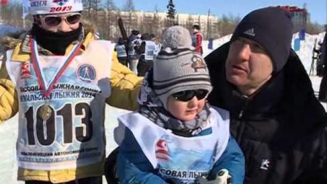 ВНовом Уренгое состоялась «Ямальская лыжня— 2014».