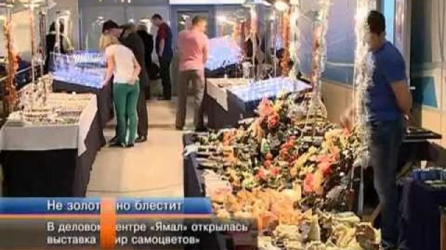 Выставка «Мир самоцветов» вделовом центре «Ямал».