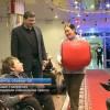 Саше Говорунову подарили специальное кресло.