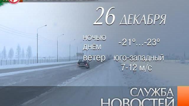 Служба новостей. Выпуск от25декабря 2012г.