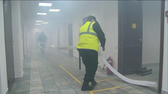 В «Уренгойгоравтодоре» прошли пожарные учения