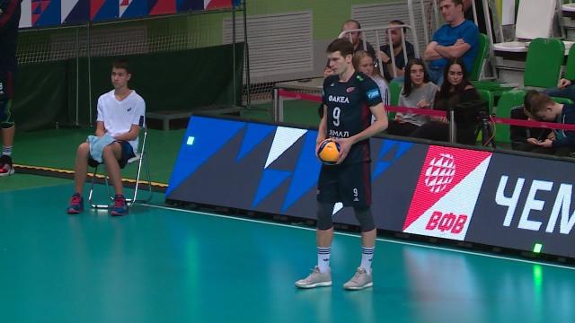 Врамках чемпионата России «Факел» одержал уверенную победу над «Белогорьем»