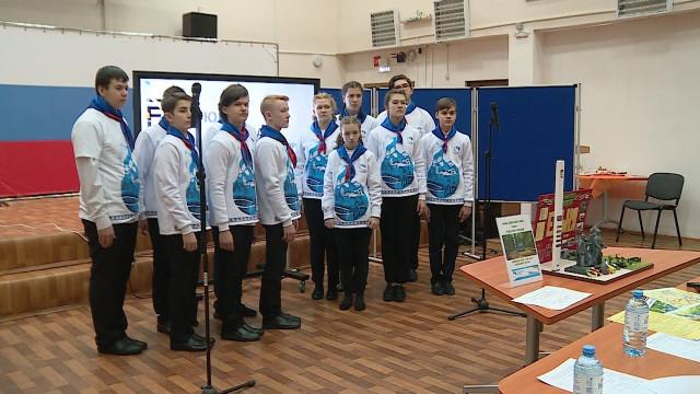 Участники проекта «ЮнАрктика» презентуют макеты городов воинской славы