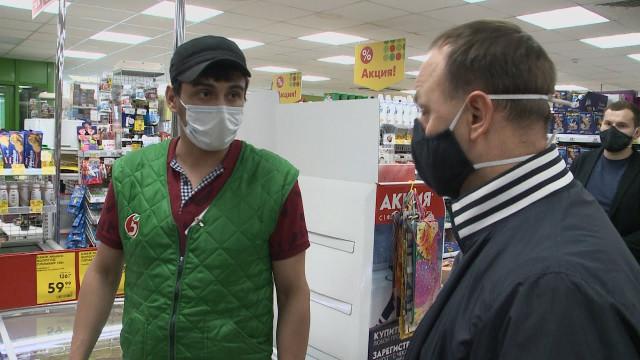 Общественники проверили, носятли маски покупатели вмагазинах Нового Уренгоя