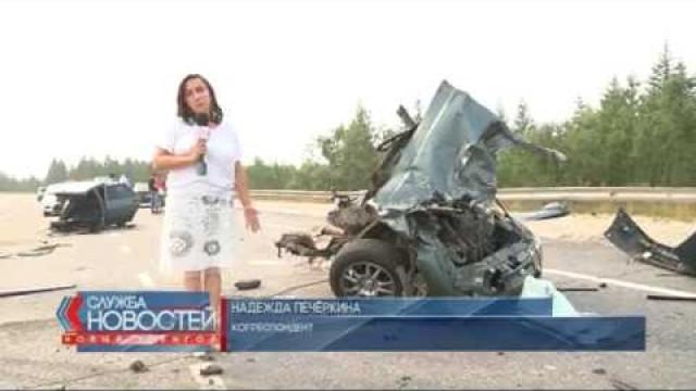 Водитель автомобиля чудом остался жив после тяжёлой аварии.