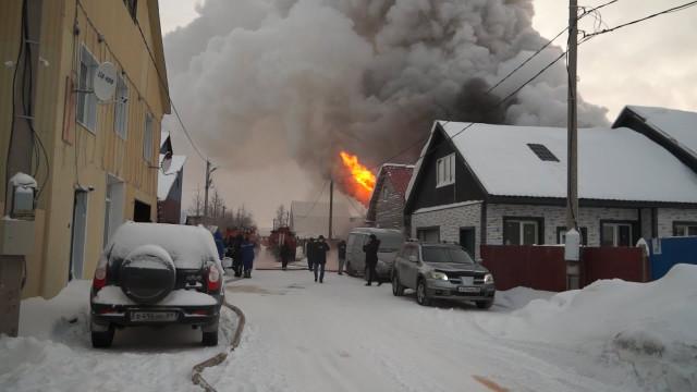 В дачном товариществе дотла сгорел частный дом