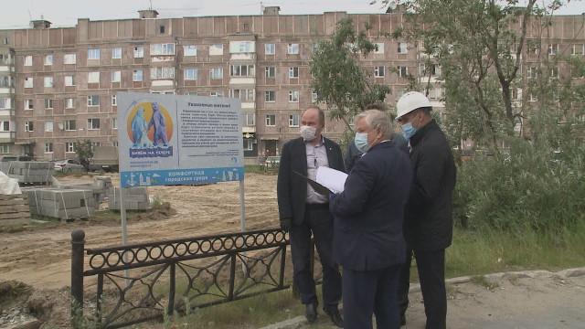 Глава города Иван Костогриз оценил ход благоустройства