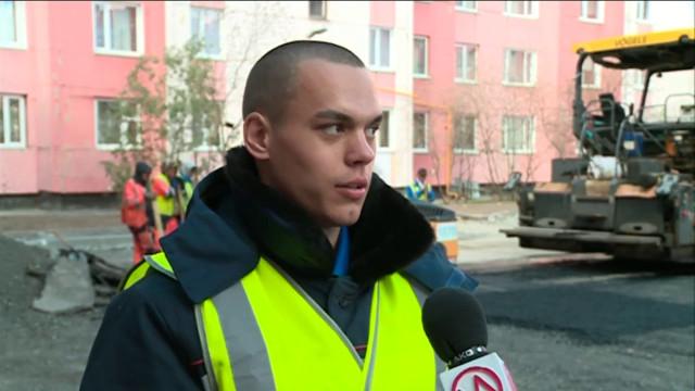 На ремонте автотрасс и благоустройстве дворов трудятся представители студенческих отрядов