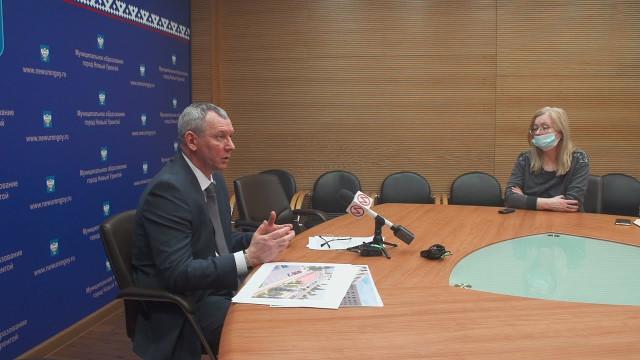 Первый заместитель главы Администрации города Виктор Пузанов рассказал опредстоящем благоустройстве