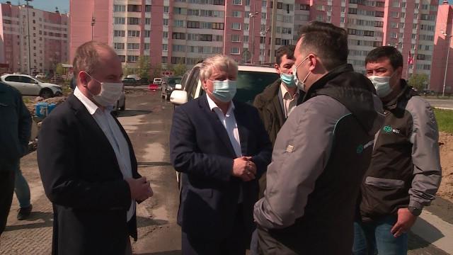 Глава города Иван Костогриз оценил ход работ поблагоустройству