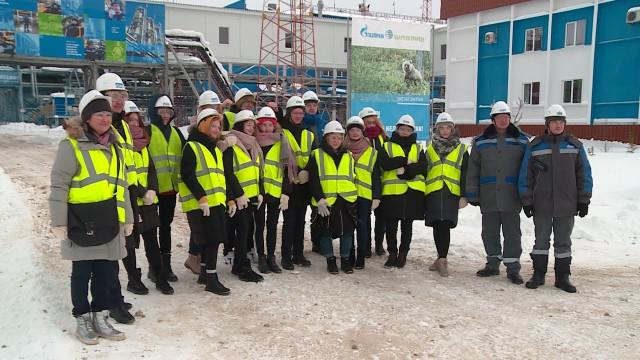 Учащиеся «Импульс-класса» побывали напроизводственном объекте ООО «Газпром добыча Ямбург»