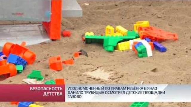 Уполномоченный поправам ребёнка вЯНАО Данило Трубицын осмотрел детские площадки газовой столицы.