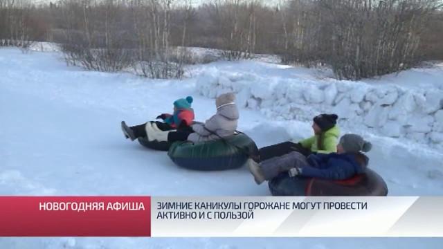 Зимние каникулы горожане могут провести активно использой.