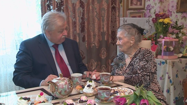 8марта ветерану Великой Отечественной войны Клавдии Герасимовой исполнилось 95лет