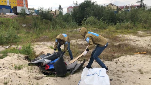 Волонтёры проекта «Будущее Арктики» продолжают наводить порядок втундре.