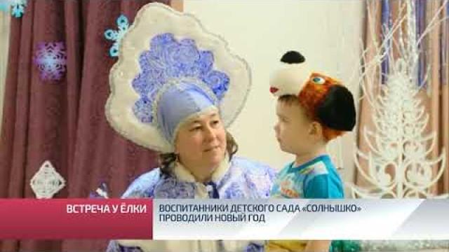 Воспитанники детского сада «Солнышко» проводили Новый год.