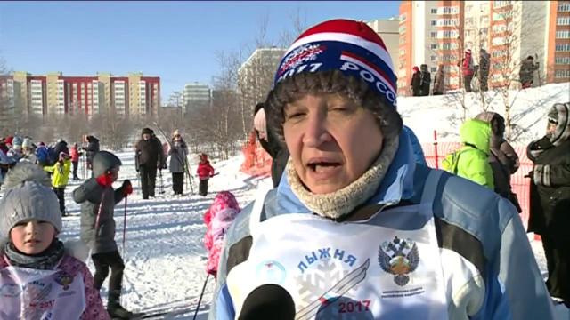 Новый Уренгой присоединился кВсероссийскому забегу «Лыжня России-2017».