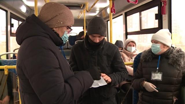 Как соблюдается масочный режим вобщественном транспорте