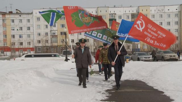 Впреддверии 9-го мая Новый Уренгой принял участие врегиональной акции «Эстафета флага «Победа».