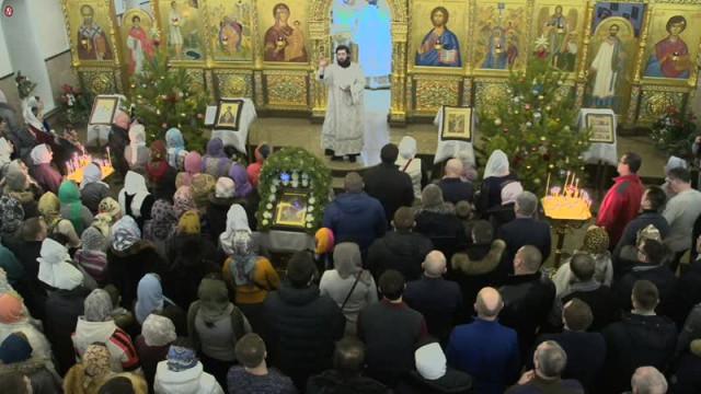 Рождественское богослужение вБогоявленском соборе.