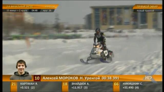 Онлайн трансляция финала Чемпионата России покроссу наснегоходах.